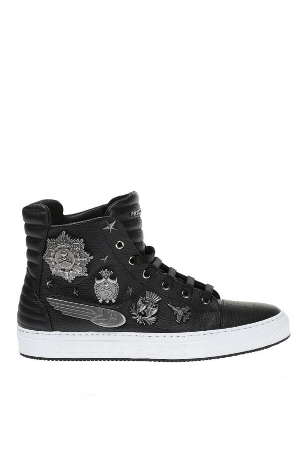 fb50bb7cc3d1 Old Army  leather high-top sneakers Philipp Plein - Vitkac shop online