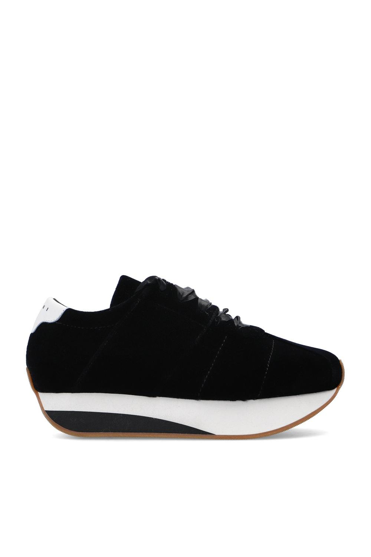 Marni Velvet platform sneakers