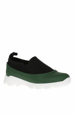 Leather-trim sneakers od Marni