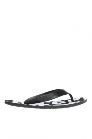 'splish' flip flops with logo od Diesel