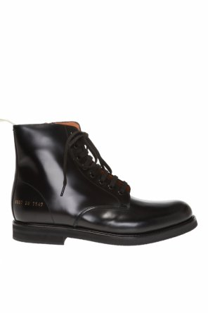 Printed leather ankle boots od Common Projects