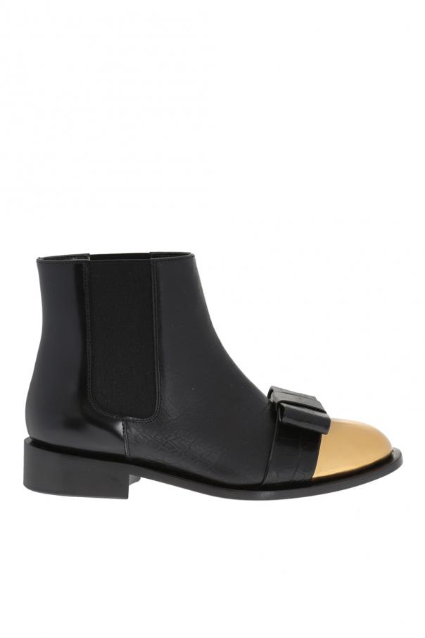e28497fbd5 Leather ankle boots with bow Marni - Vitkac shop online