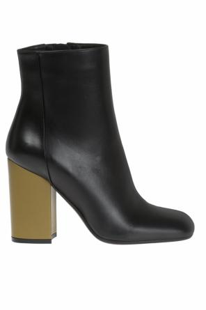 Leather heeled ankle boots od Marni