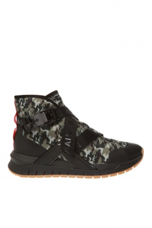 High-top lace-up sneakers od Balmain