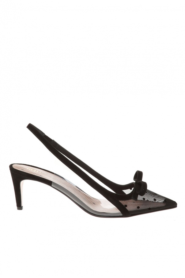 Red Valentino Slingback suede stiletto pumps
