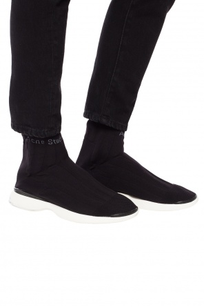 'tristan' sneakers with sock od Acne