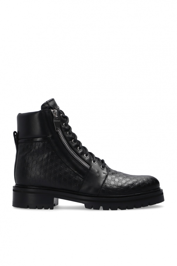Balmain 'Rangers' ankle boots with logo