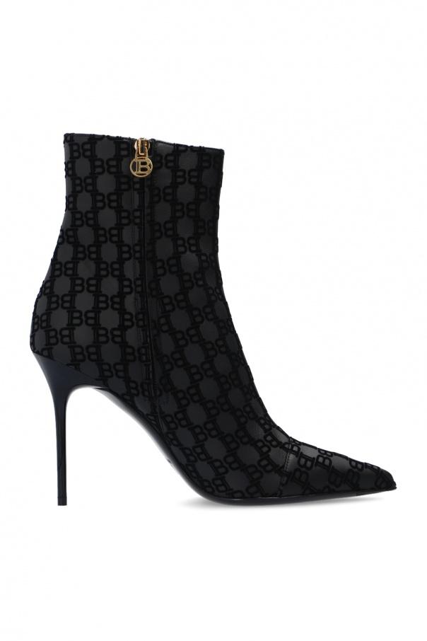 Balmain Stiletto ankle boots with logo