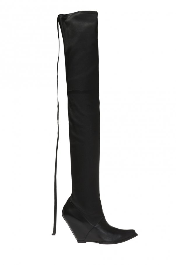 Thigh high  wedge boots od Unravel Project