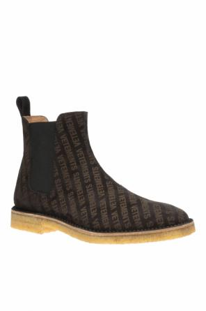Logo-embossed chelsea boots od Vetements