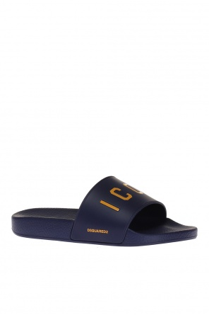 Embossed sliders od Dsquared2