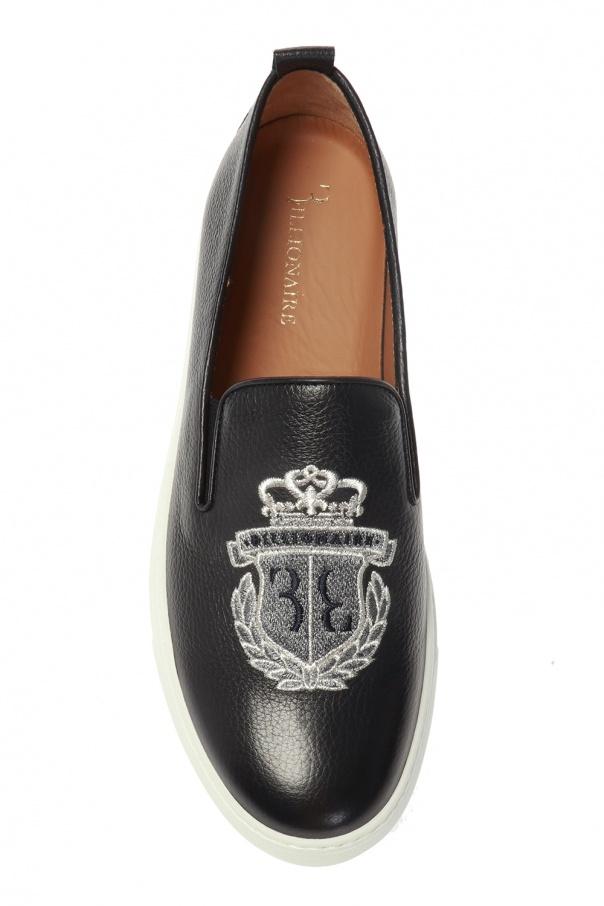 Logo-embroidered slip-on shoes od Billionaire