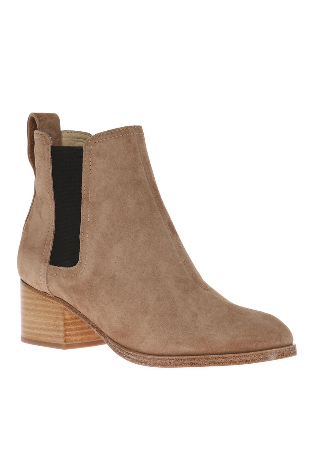Rag & Bone  Suede heeled chelsea boots