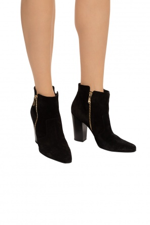 Suede heeled ankle boots od Balmain