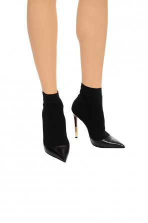 Heeled boots with sock od Balmain