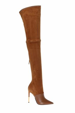 Heeled over-the-knee boots od Balmain