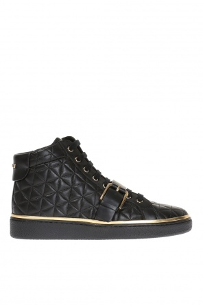 Quilted high-top sneakers od Balmain