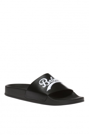 Logo-embroidered slides od Balmain