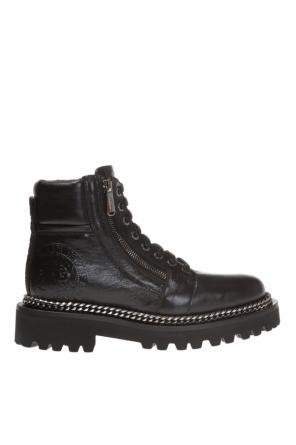 Lace-up boots with a logo od Balmain