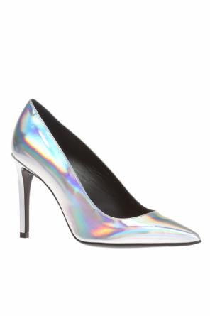 Holographic stiletto pumps od Balmain
