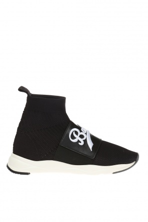 'cameron' high-top sneakers with sock od Balmain
