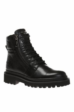 Boots with embossed logo od Balmain