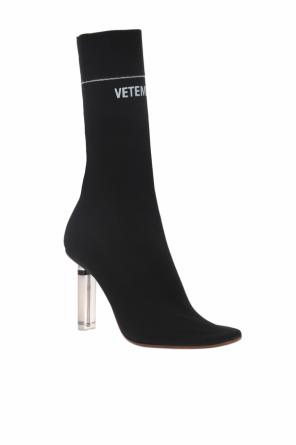 Heeled shoes with a sock od Vetements