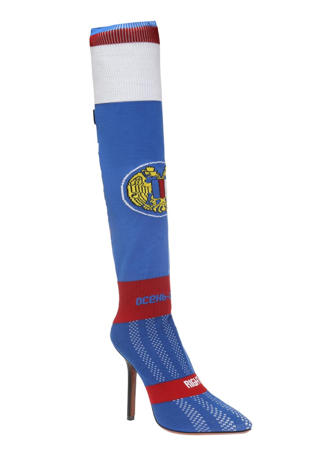 VETEMENTS Heeled shoes with a sock