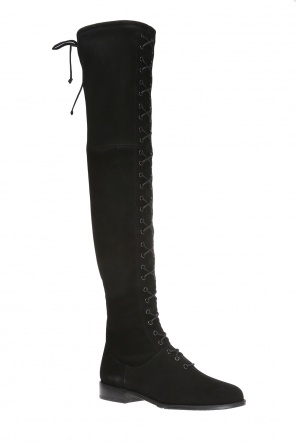 Lace-up over-the-knee boots od Stuart Weitzman