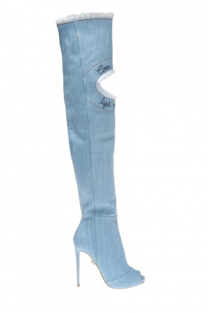 'come on denim' over-the-knee boots od Philipp Plein