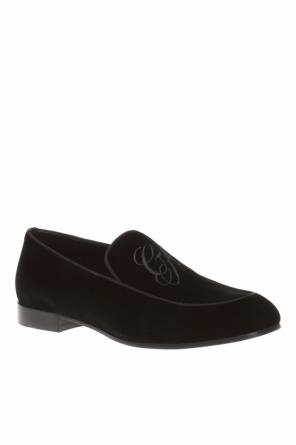Velvet 'loafer' shoes od Giorgio Armani