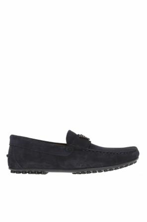 Moccasins with metal logo od Emporio Armani