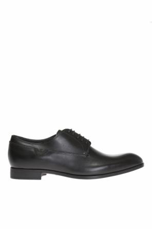 Logo-embossed lace-up shoes od Emporio Armani