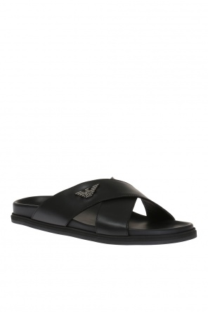 Leather slides od Emporio Armani