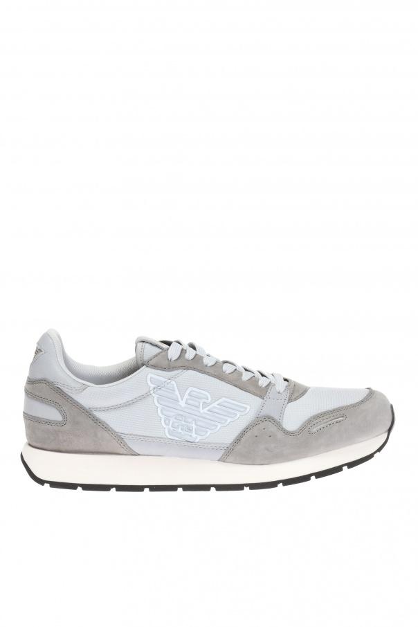 Emporio Armani Sznurowane buty sportowe z logo