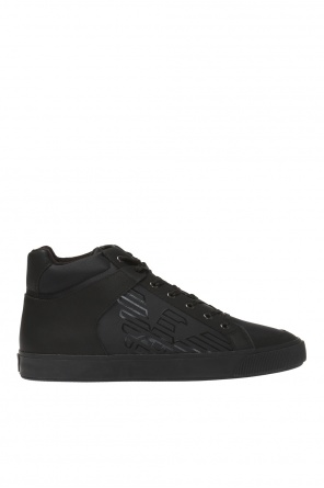 Branded high-top sneakers od Emporio Armani