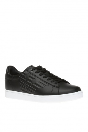 Sneakers with raised logo od EA7 Emporio Armani
