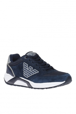 Logo-patched sneakers od EA7 Emporio Armani