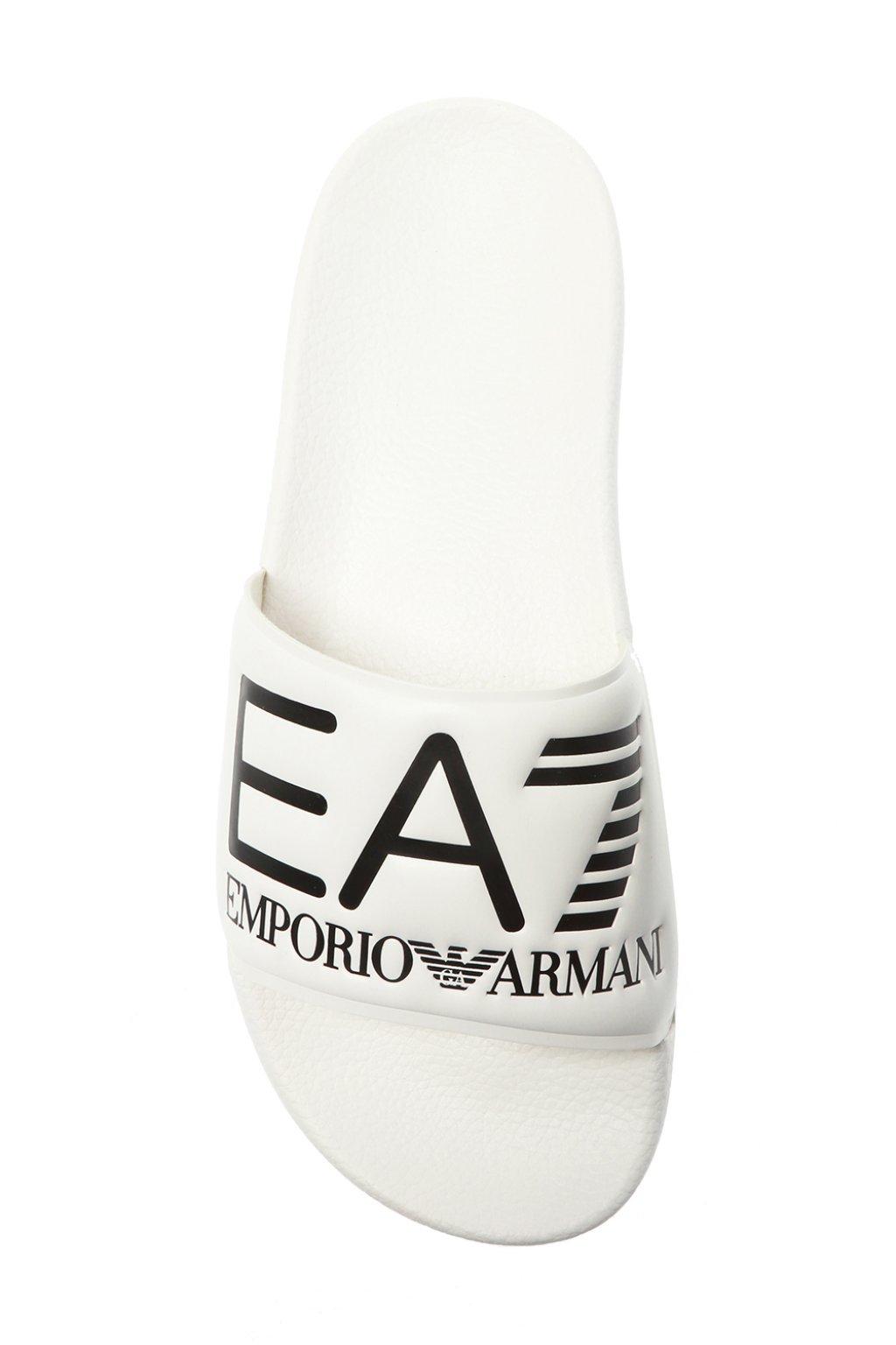 EA7 Emporio Armani Logo-embossed slides