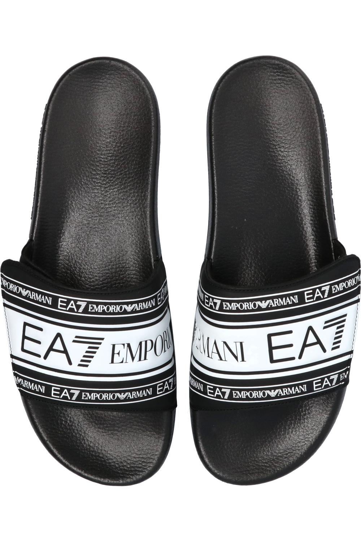 EA7 Emporio Armani Slides with logo