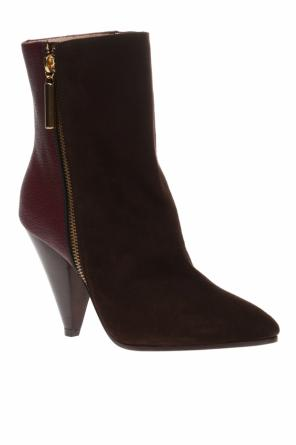 'cone' heeled ankle boots od Stuart Weitzman