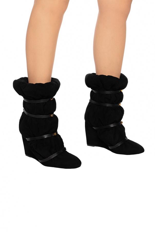 fcbfc33a463 Duvet Stud' wedge ankle boots Stuart Weitzman - Vitkac shop online