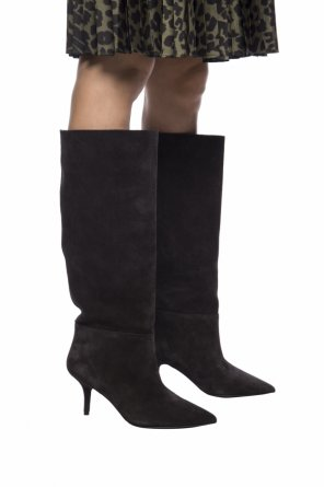 Heeled knee high boots od Yeezy