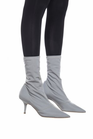 Heeled ankle boots with sock od Yeezy
