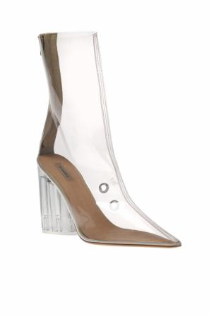 Transparent heeled ankle boots od Yeezy