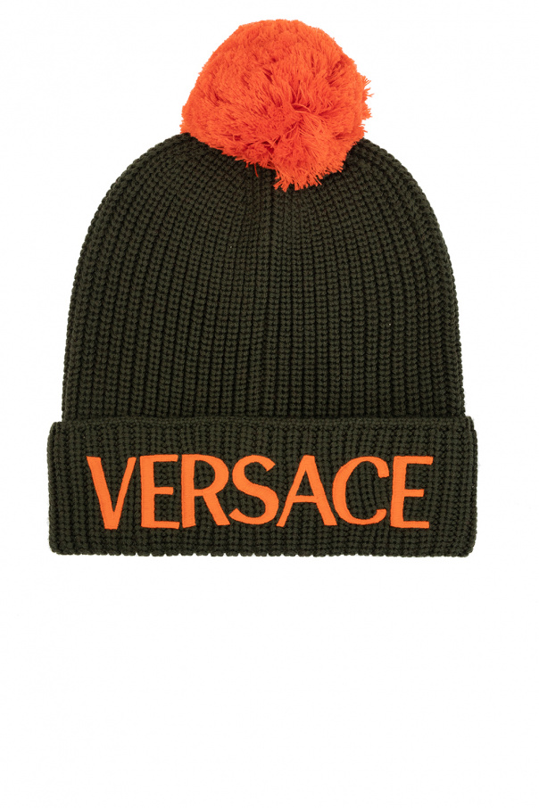 Versace Pompom hat