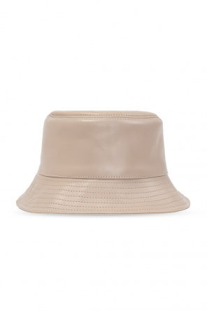 Leather hat with logo od Loewe