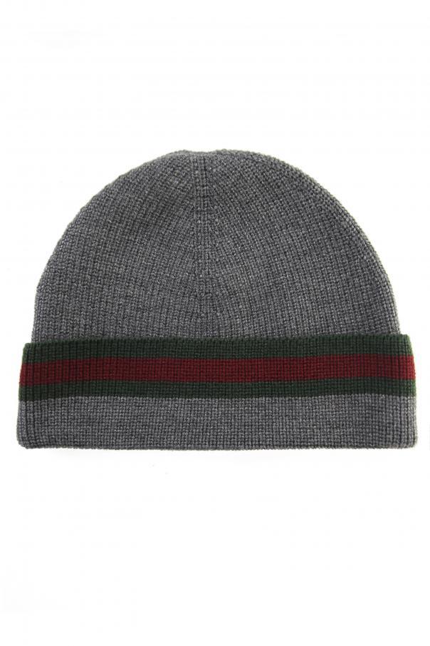 af3947938e5 Wool  Web  Stripe Hat Gucci - Vitkac shop online
