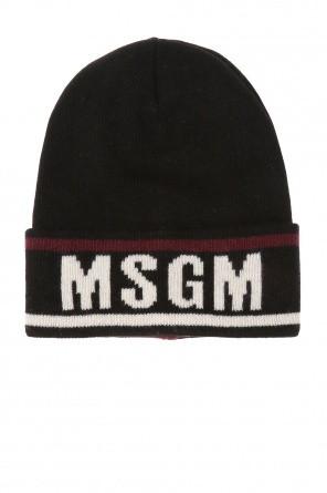 Logo-embroidered hat od MSGM