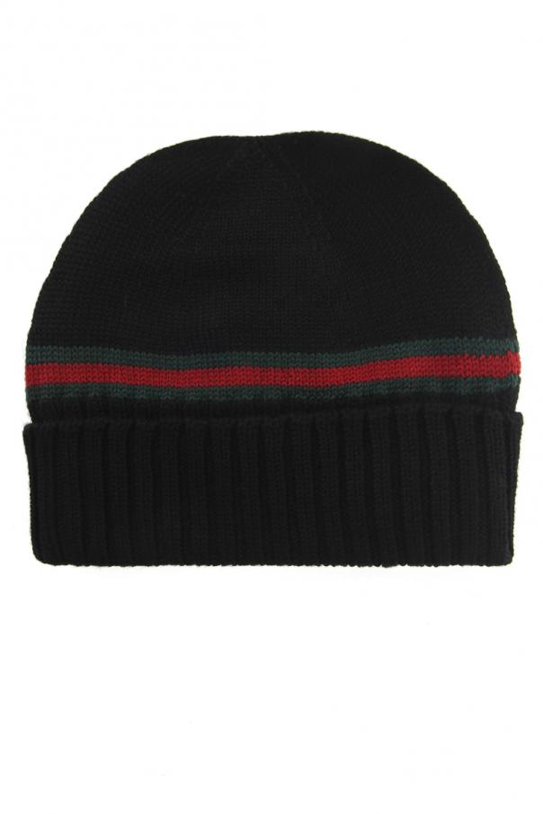 1ec7da0a Wool 'Web' Stripe Hat Gucci - Vitkac shop online